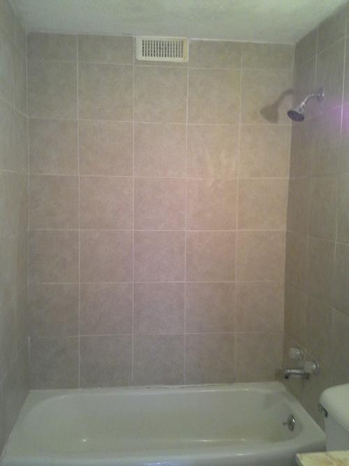Ceramic Tile Installation in Shower