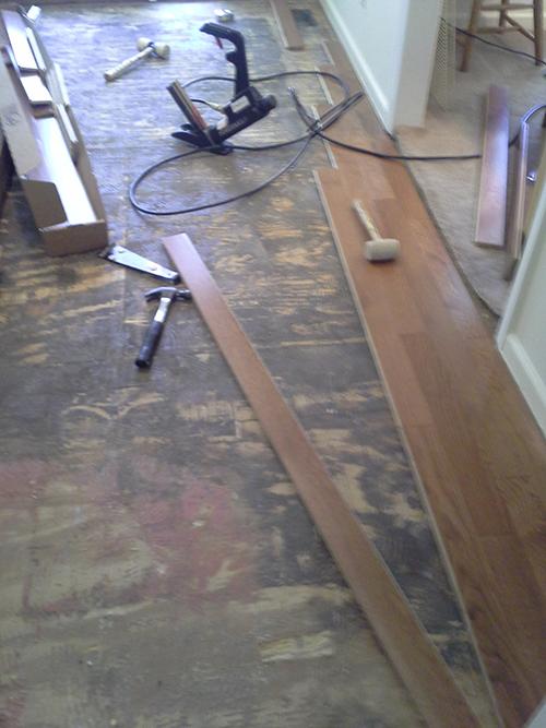 Wood Flooring installation, Ooltewah, TN